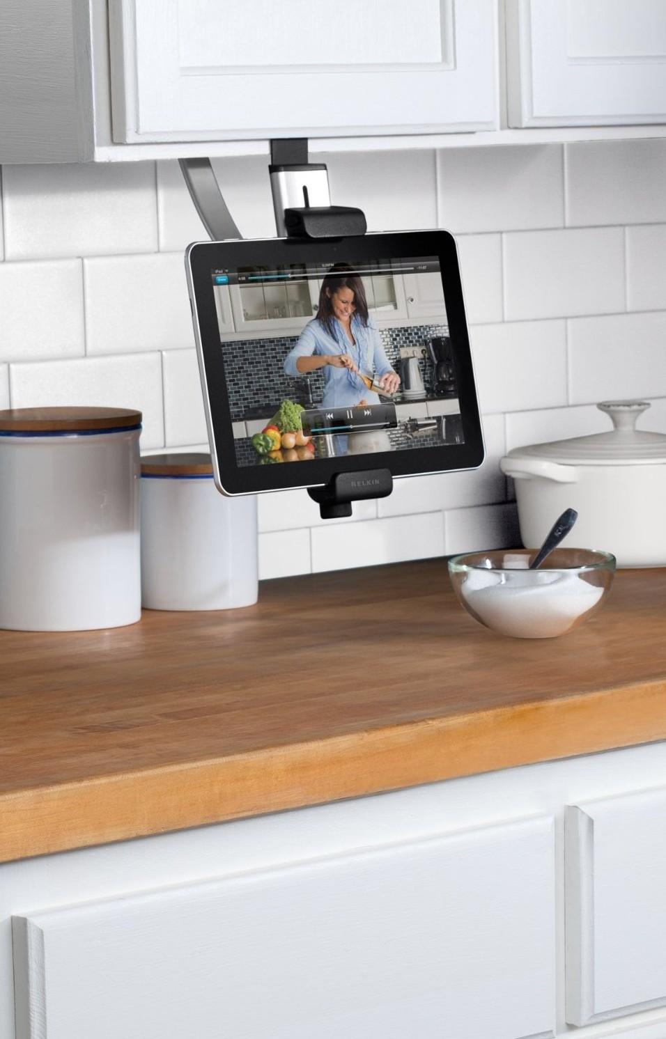 belkin-tablet mount-edgewood cabinetry