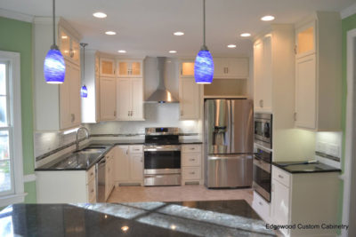 shaker off white kitchen-edgewood custom cabinetry-clayton nc