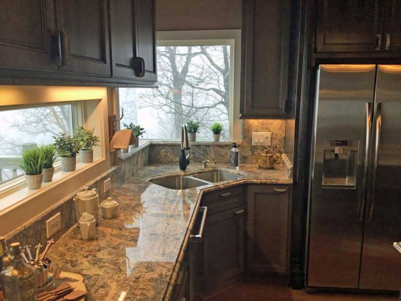solid surface countertop-edgewood custom cabinetry-blowingrock nc