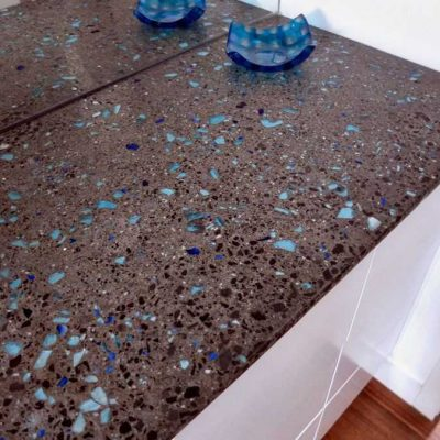 recycled glass countertops-edgewood custom cabinetry-clayton nc