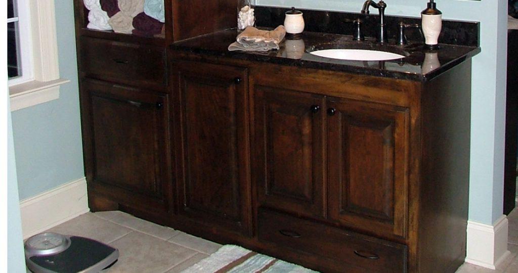 Elegant Bathroom Vanity Edgewood Cabinetry