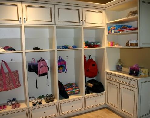 Multi-Level Cabinets Create Valuable Mudroom Storage