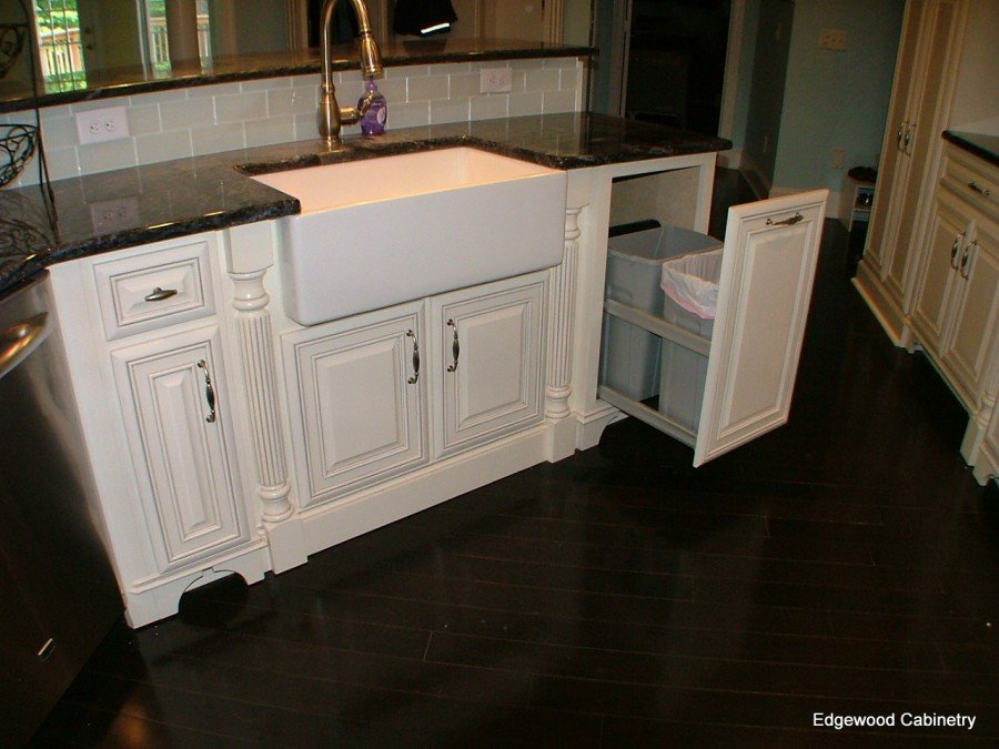trash pull out cabinets kitchen