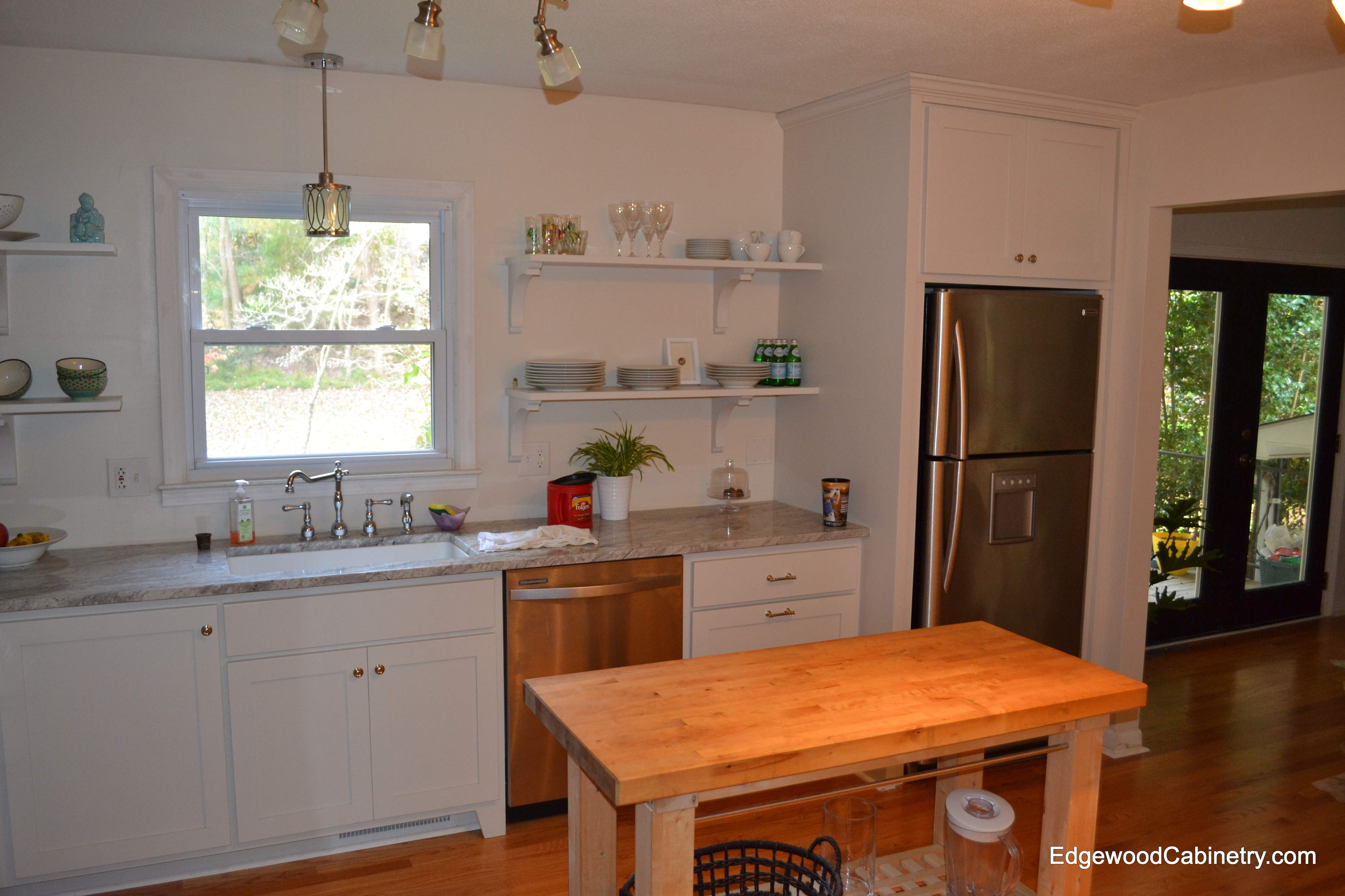 Kitchen cabinets open shelving