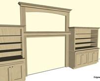 Mantle & Bookshelves Design