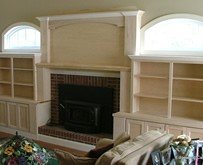 mantle bookcases