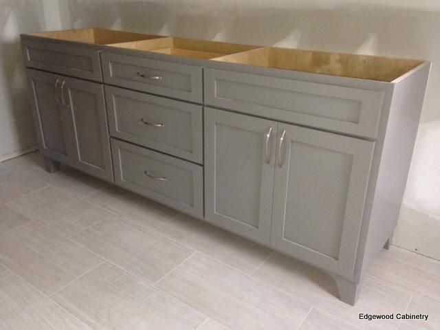 Edgewood Cabinetry-Gray Vanity