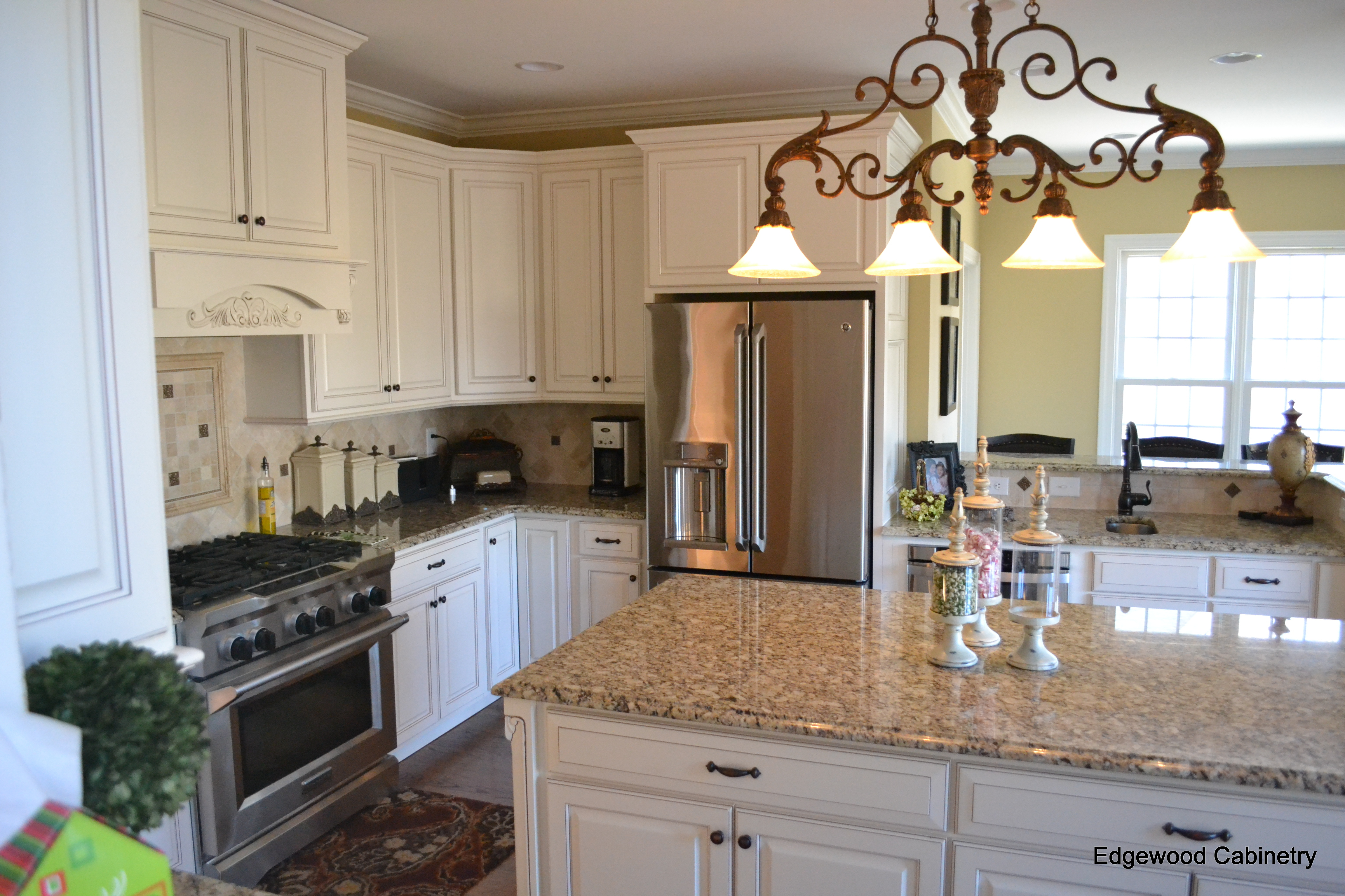 off white kitchen cabinets with glaze-edgewood cabinetry