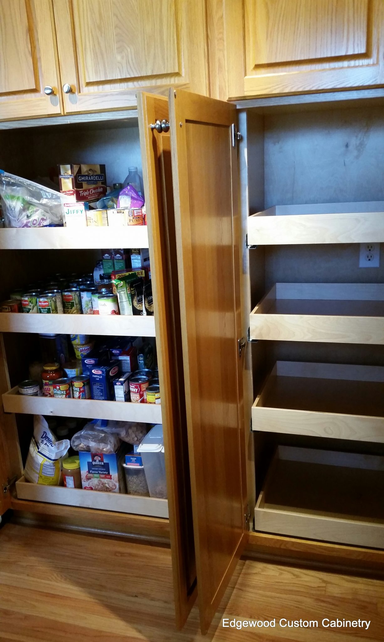 pantry pull outs-edgewood cabinetry