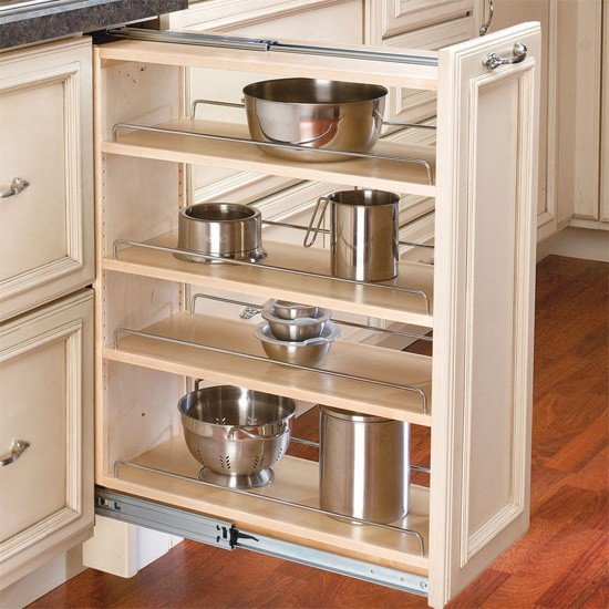 pull out shelves-edgewood cabinetry