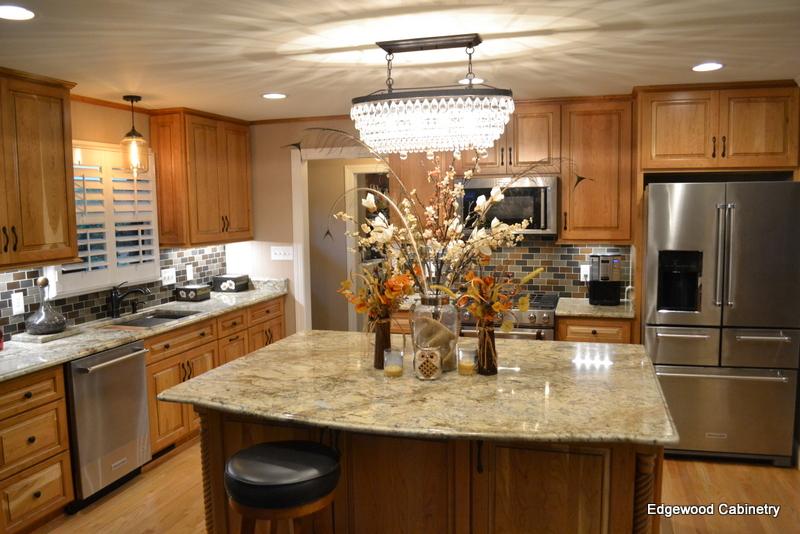 custom cherry kitchen-edgewood cabinetry