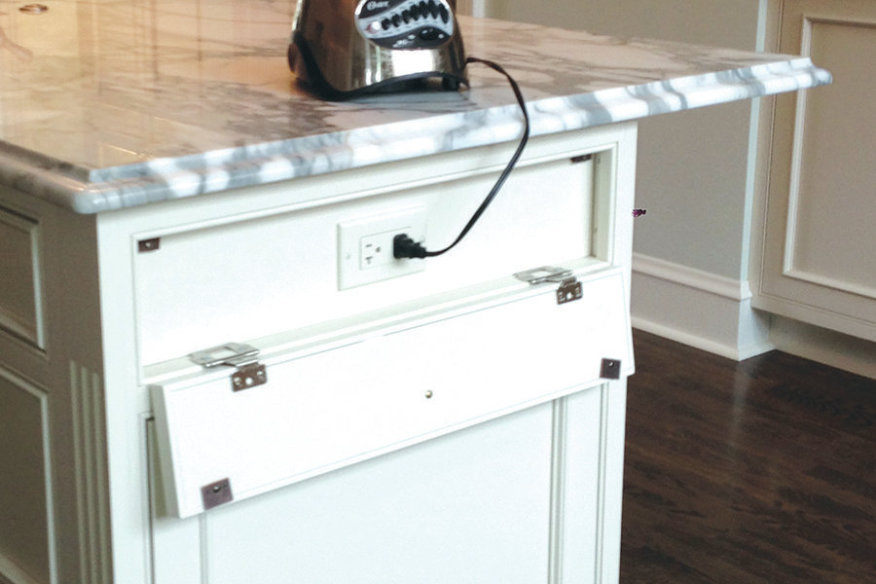 Hiding Plugs And Switches Edgewood Cabinetry