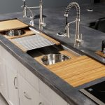 galley sink-edgewood cabinetry