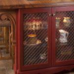 wire mesh cabinet door inserts-edgewood cabinetry