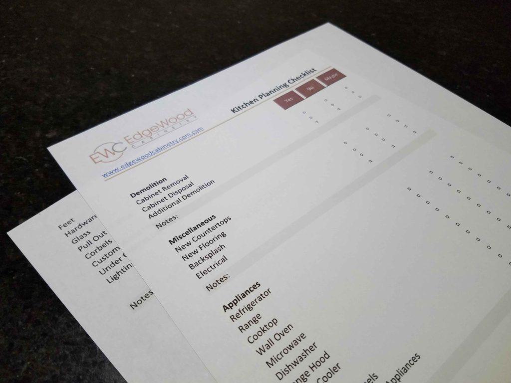 Kitchen Planning Checklist
