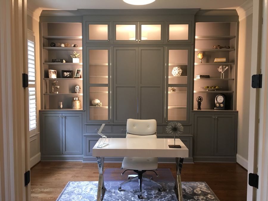 Edgewood Custom Cabinetry Home Office Raleigh NC
