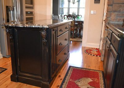 custom cabinetry and custom kitchen island