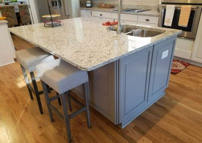 custom gray kitchen island
