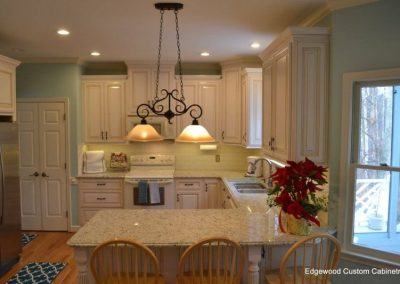 custom kitchen cabinet peninsula