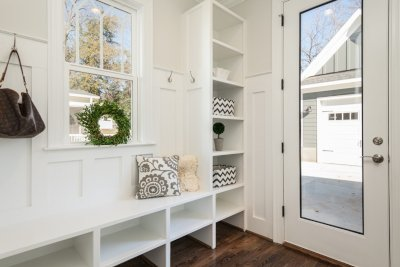 Custom designed mudroom