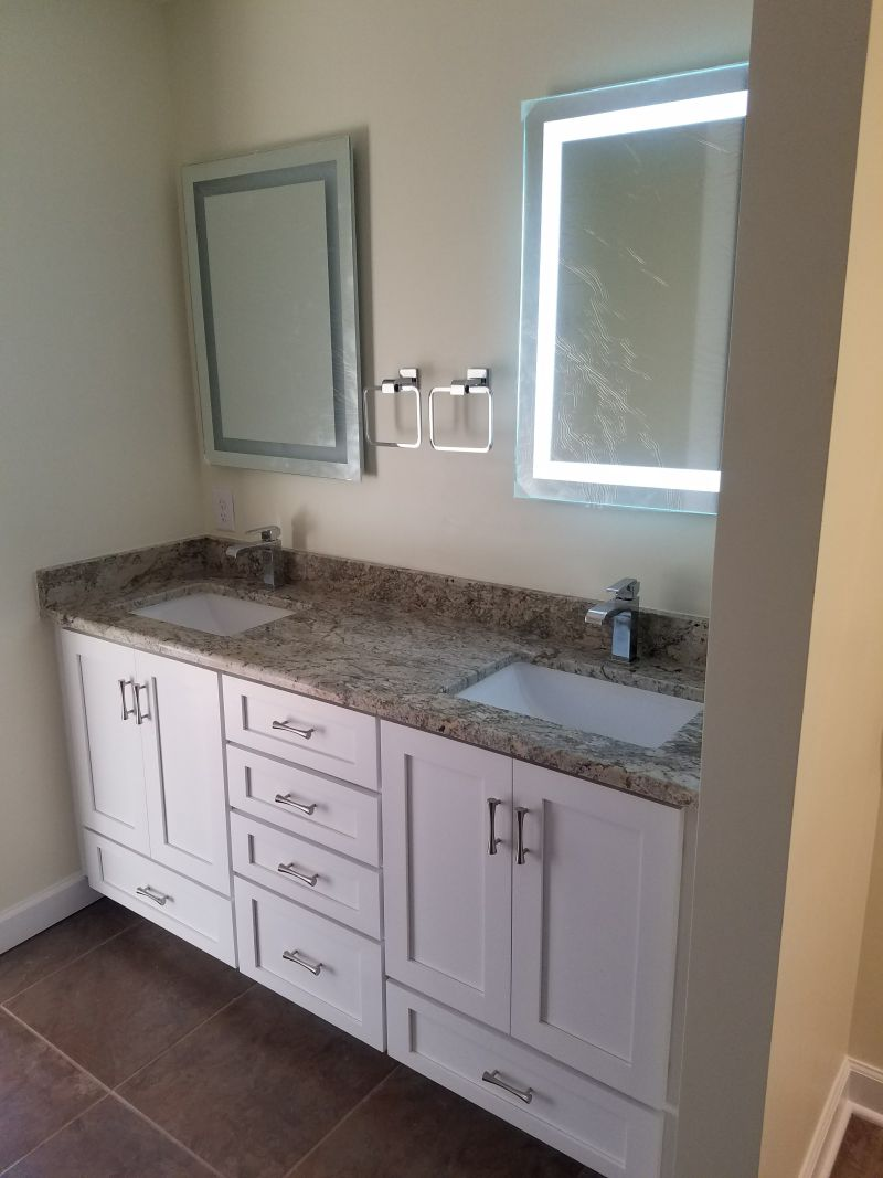 Double sink custom vanity