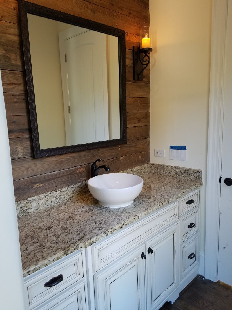 Newcustom bathroom vanity construction