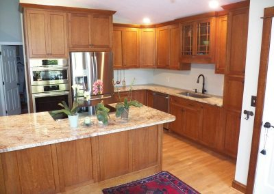 oak kitchen cabinets beaded inset doors