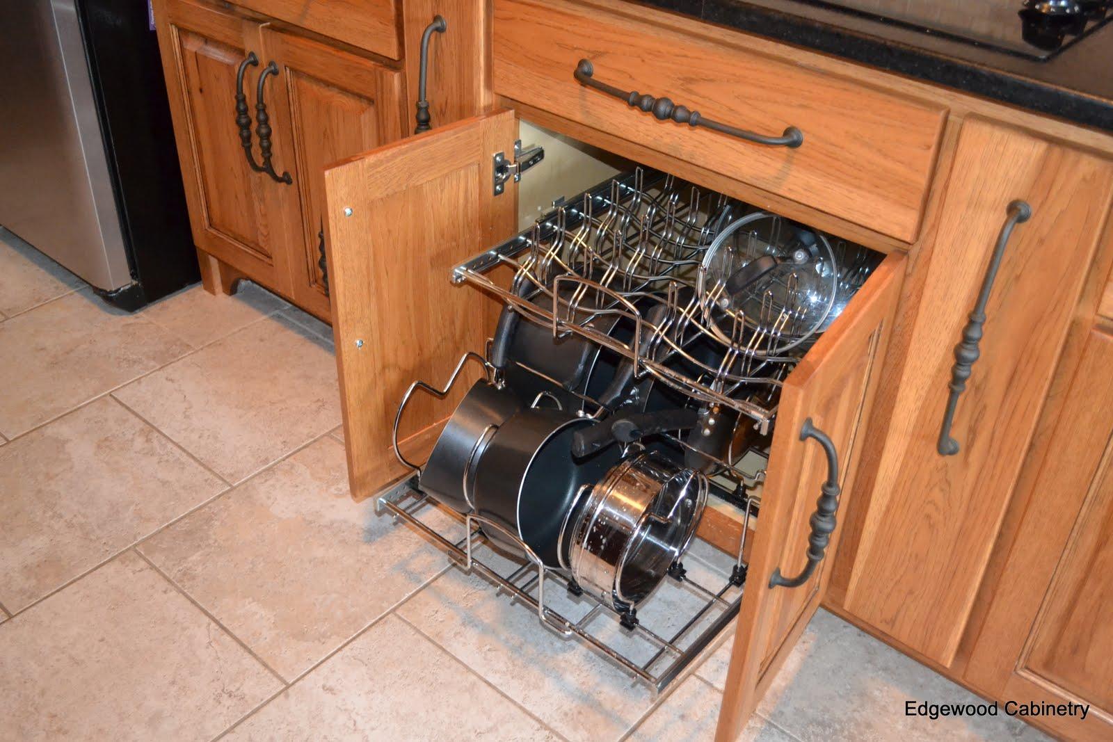 edgewood cabinetry pot pan storage