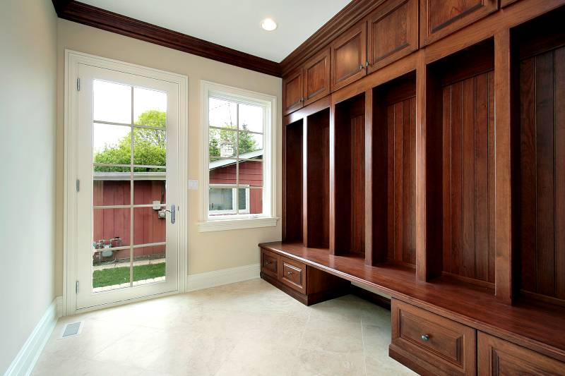 mudroom custom cabinets