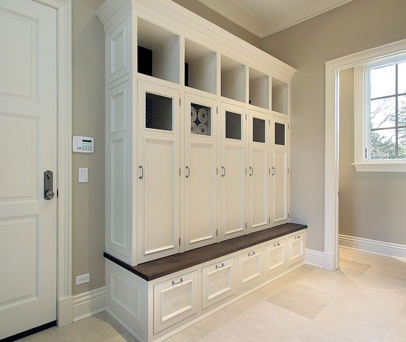 Utilize Mudroom Cabinets to Keep Clutter at Bay