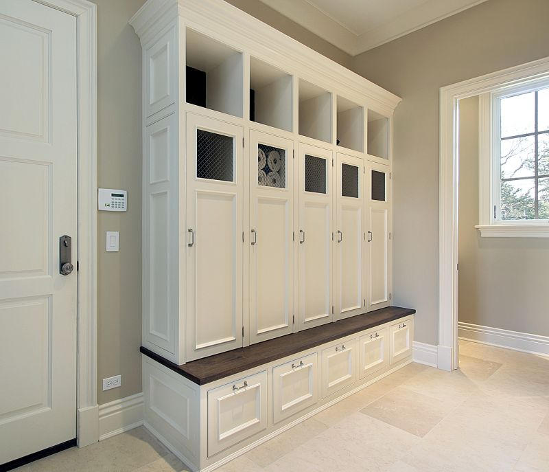 Edgewood Cabinetry mudroom cabinets
